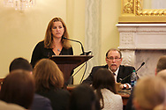 The National Coalition for Cancer Research held a briefing in Washington, DC on Oct. 4, 2017, to discuss the Moonshot Initiative. The event was moderated by Dr. Richard Schilsky, with Dr. Doug Lowy, Acting Director of the National Cancer Institute, Dr. Peter O'Dwyer, Dr. Tom Lynch, and cancer survivor Jacqueline Smith. (Photo by Jennifer Milbrett)
