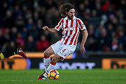 Stoke City midfielder Joe Allen (4)  during the Premier League match between Stoke City and Watford at the Britannia Stadium, Stoke-on-Trent, England on 3 January 2017. Photo by Simon Davies.