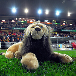 The Lions mascot during the 2017 DHL Lions Series rugby union match between the NZ Maori and British & Irish Lions at FMG Stadium in Hamilton, New Zealand on Tuesday, 20 June 2017. Photo: Dave Lintott / lintottphoto.co.nz