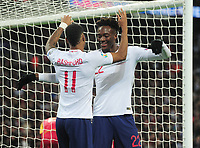 Football - 2019 / 2020 UEFA European Championships Qualifier - Group A: England vs. Montenegro<br /> <br /> Tammy Abraham of England celebrates goal no 6 (own goal), with Marcus Rashford at Wembley Stadium.<br /> <br /> This game is England men's 1,000 international match.<br /> <br /> COLORSPORT/ANDREW COWIE