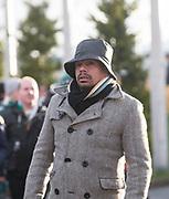 4th April 2018, Celtic Park, Glasgow, Scotland; Scottish Premier League football, Celtic versus Dundee; Former Dee Fan=bian Caballero was at Celtic Park to support the Dark Blues