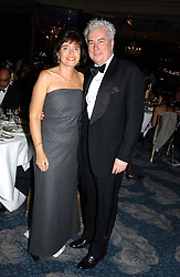 KEN FOLLETT and his wife BARBARA FOLLETT at the Dyslexia Awards Dinner 2004 held at The Dorchester, Park Lane, London on 2nd November 2004.<br /><br />NON EXCLUSIVE - WORLD RIGHTS