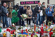 People of all nationalities and faith has laid flowers at Brussels Place de la Bourse to show solidarity here in the morning Thursday 24 March 2016. Photo: Erik Luntang