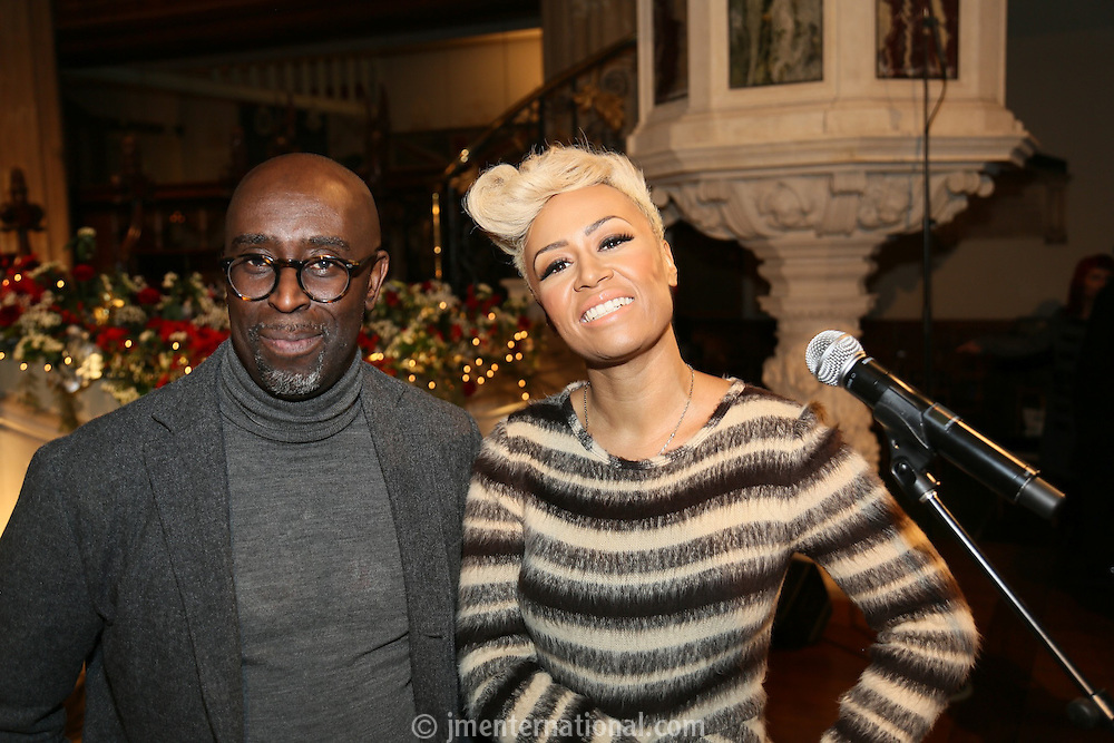 Emeli Sandé and her manager Adrian Sykes at the Nordoff-Robbins Carol Service 2012, St Luke's Church, Chelsea, London. Tuesday, Dec 18, 2012 (Photo/John Marshall JME)