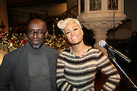 Emeli Sandé and her manager Adrian Sykes at the Nordoff-Robbins Carol Service 2012, St Luke's Church, Chelsea, London. Tuesday, Dec 18, 2012 (Photo/John Marshall JME)