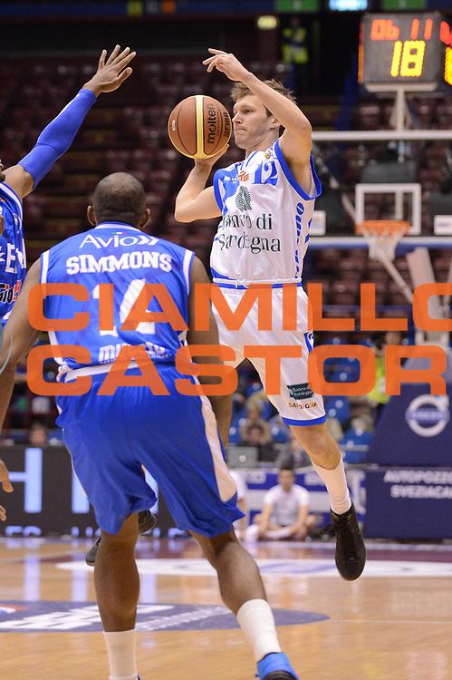 DESCRIZIONE : Milano Coppa Italia Final Eight 2013 Quarti di Finale Banco di Sardegna Sassari Enel Brindisi<br /> GIOCATORE : Travis Diener<br /> CATEGORIA : passaggio<br /> SQUADRA : Banco di Sardegna Sassari <br /> EVENTO : Beko Coppa Italia Final Eight 2013<br /> GARA : Banco di Sardegna Sassari Enel Brindisi<br /> DATA : 08/02/2013<br /> SPORT : Pallacanestro<br /> AUTORE : Agenzia Ciamillo-Castoria/M.Marchi<br /> Galleria : Lega Basket Final Eight Coppa Italia 2013<br /> Fotonotizia : Milano Coppa Italia Final Eight 2013 Quarti di Finale Banco di Sardegna Sassari Enel Brindisi<br /> Predefinita :