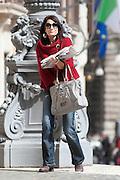 2013/03/19 Roma, parlamentari in Piazza Montecitorio. Nella foto Simona Flavia Malpezzi.<br /> Rome, parliamentarians in Montecitorio Square. In the picture Simona Flavia Malpezzi - &copy; PIERPAOLO SCAVUZZO