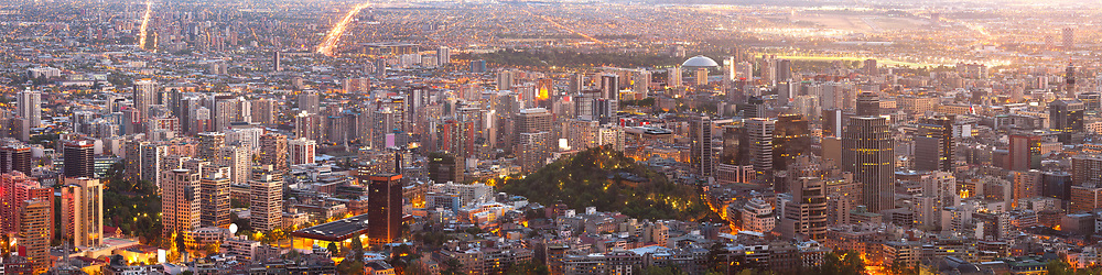 Super high resolution of a panoramic view of downtown Santiago de Chile