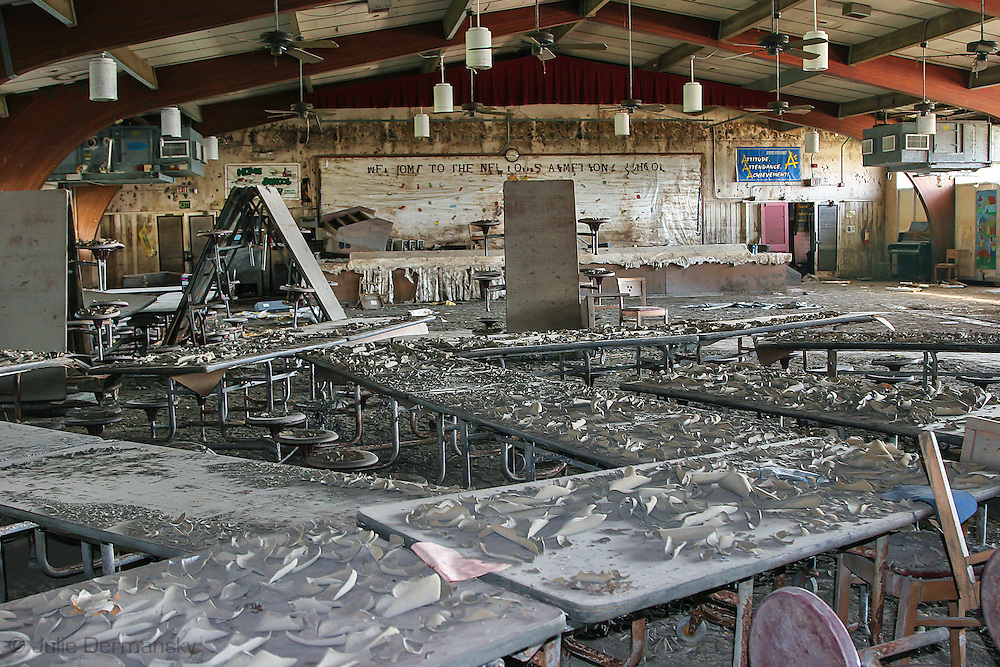 School in the lower 9th Ward of New Orleans destroyed by Hurricane Katrina