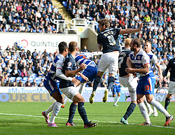 Derby County's Chris Martin scores with his head. - Photo mandatory by-line: Alex James/JMP - Mobile: 07966 386802 - 18/10/2014 - SPORT - Football - Reading - Madejski Stadium - Reading v Derby County - Sky Bet Championship