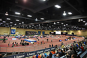 Mar 4, 2017; Albuquerque, NM, USA: Genera overall view of the USA Indoor Championships at Albuquerque Convention Center.