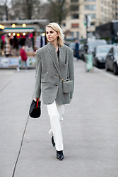 Street style, Caroline Daur arriving at Haider Ackermann Fall-Winter 2018-2019 show held at Palais de Chaillot, in Paris, France, on March 3rd, 2018. Photo by Marie-Paola Bertrand-Hillion/ABACAPRESS.COM
