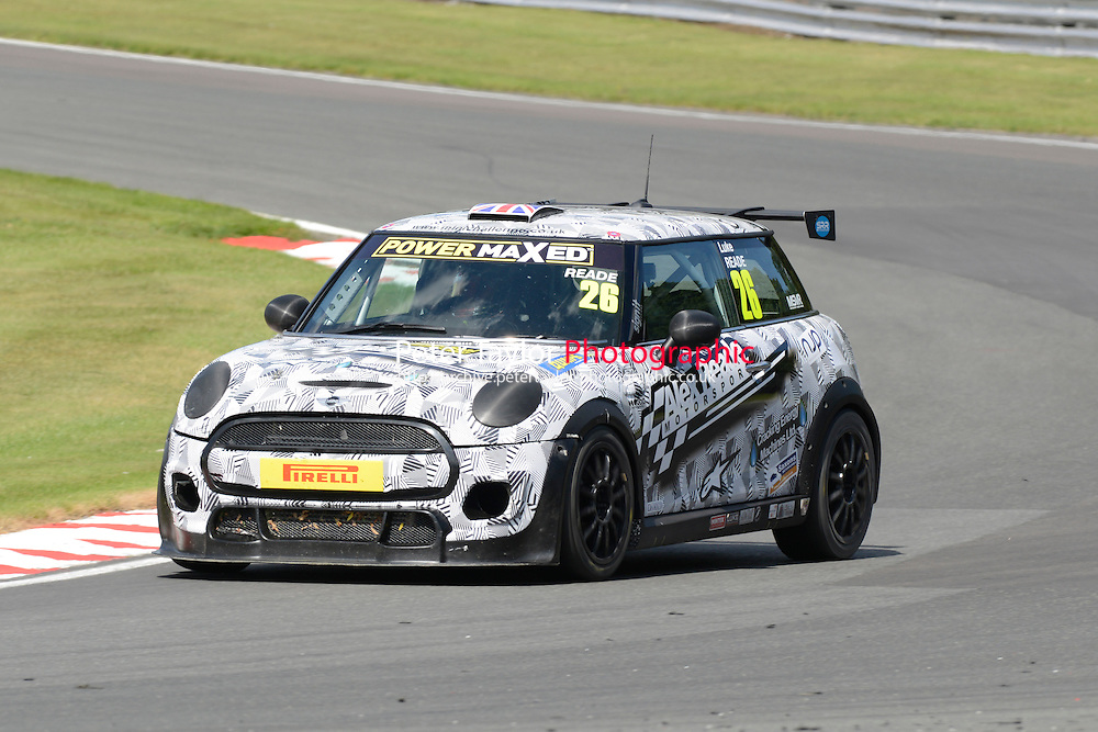 #26 Luke Reade Mini F56 during Power Maxed Mini Challenge - F56/JCW - Race 1 as part of the Mini Festival  at Oulton Park, Little Budworth, Cheshire, United Kingdom. August 08 2015. World Copyright Peter Taylor. Copy of publication required for printed pictures.  Every used picture is fee-liable. http://archive.petertaylor-photographic.co.uk
