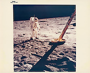 Unpublished V I N T A G E  N A S A  P H O T O G R A P H S<br /> <br /> The launch of the second collection of vintage NASA prints from www.vintagenasaphotographs.com - our new website which was launched in September. These images are previously unpublished with some unusual and exceptional iconic shots.<br /> <br /> Photo shows: Neil Armstrong, Buzz Aldrin at the North Footpad of the Lunar Module, Apollo 11, July 1969<br /> ©vintagenasaphotographs/Exclusivepix Media