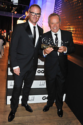 Left to right, HESTON BLUMENTHAL and WOLFGANG PUCK winner of Chef of The Year Award at the GQ Men of The Year Awards 2012 held at The Royal Opera House, London on 4th September 2012.