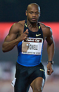 ASAFA POWELL (JAMAICA) COMPETES IN THE 100 METERS RUN. POWELL WON AND GOT RESULT 9.89 DURING ATHLETICS MEETING PEDRO'S CUP IN SZCZECIN, POLAND..SZCZECIN , POLAND , SEPTEMBER 17, 2008..( PHOTO BY ADAM NURKIEWICZ / MEDIASPORT )..PICTURE ALSO AVAIBLE IN RAW OR TIFF FORMAT ON SPECIAL REQUEST.