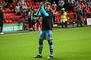Forest Green Rovers Vaughn Covil(41)  during the EFL Cup match between Charlton Athletic and Forest Green Rovers at The Valley, London, England on 13 August 2019.