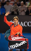 Roger Federer (SUI) faced J.W. Tsonga (FRA) in the fourth round of the 2014 Australian Open Men's Singles. Billed as a grudge match, Federer easily moved on to the quarterfinals where he will meet Andy Murray GBR). Federer beat Tsonga 6-3, 7-5, 6-4.