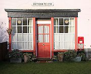 Closed village shop and post office now a private home, Shottisham, Suffolk, England