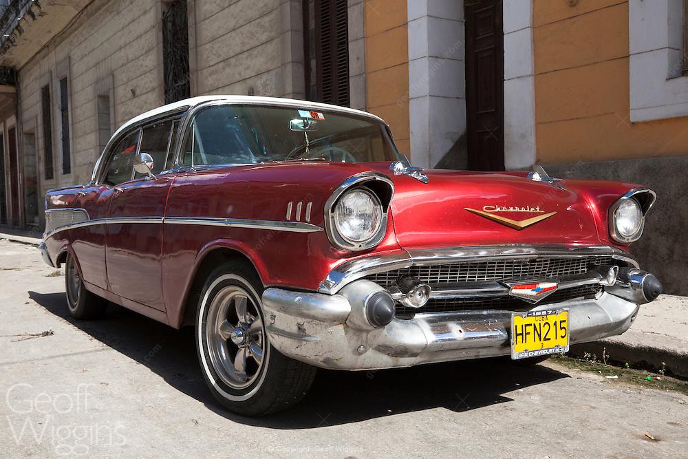 Immaculate 1957 vintage Chevrolet Bel Air Hardtop, Havana, Cuba