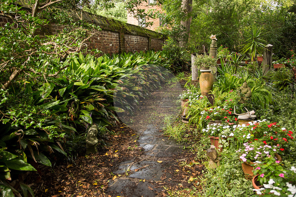 A private garden on Legare Street in Charleston, SC.