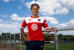 Jade Boho Sayo poses for a portrait - Mandatory byline: Rogan Thomson/JMP - 07966 386802 - 09/07/2015 - SPORT - Football - Bristol, England - SGS Wise Campus, Filton - Bristol Academy Womens FC New Signings.