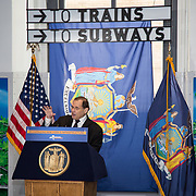 New York Congressman Jerrold Nadler addresses the crowd at the opening of the Moynihan Train Hall Penn Station.