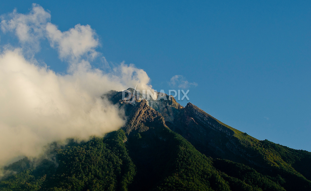 The volcano Mount Ebulobo, near Boawae, central Flores, Indonesia