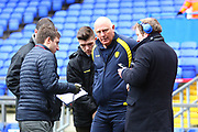 Burton Albion's coach Andy Garner gives a pre-match interview during the EFL Sky Bet Championship match between Ipswich Town and Burton Albion at Portman Road, Ipswich, England on 10 February 2018. Picture by John Potts.