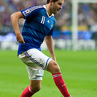 05 September 2009: French forward Andre-Pierre Gignac dribbles the ball during the World Cup 2010 qualifying football match France vs. Romania (1-1), on September 5, 2009 at the Stade de France stadium in Saint-Denis, near Paris, France.