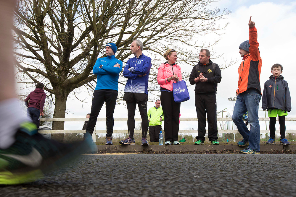 12/03/2017, Bohermeen AC 10k road Race & Half Marathon<br /> Pictured watching the half marathon, L-R, Fergus Sommerville (Dunshaughlin), David McCarthy (Tara), Eimear Hussey (Tara), Paddy Mangan (Dunsgaughlin), Kieran Coyle (Dunshaughlin) & Killian O`Dwyer<br /> David Mullen / www.cyberimages.net<br /> ISO: 200; Shutter: 1/60; Aperture: 11; <br /> File Size: 3.0MB<br /> Actuations: