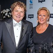 NLD/Hilversum/20150217 - Inloop Buma Awards 2015, Hans van Hemert en partner