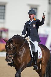 Hosmar Frank (NED) - Alphaville<br /> Team Test - Grade IV - Dressage <br /> London 2012 Paralympic Games<br /> © Hippo Foto - Jon Stroud