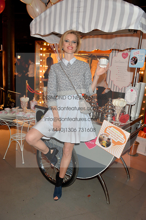 EVA HERZIGOVA at 'The World's First Fabulous Fund Fair' in aid of the Naked Heart Foundation hosted by Natalia Vodianova and Karlie Kloss at The Roundhouse, Chalk Farm Road, London on 24th February 2015.