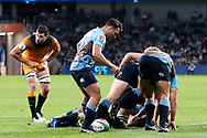 SYDNEY, AUSTRALIA - MAY 25: Waratahs player Nick Phipps (9) controls the ball at week 15 of Super Rugby between NSW Waratahs and Jaguares on May 25, 2019 at Western Sydney Stadium in NSW, Australia. (Photo by Speed Media/Icon Sportswire)
