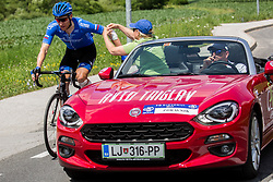 Pavel Brutt (RUS) of Gazprom-Rusvelo needing medical assistance during Stage 3 of 24th Tour of Slovenia 2017 / Tour de Slovenie from Celje to Rogla (167,7 km) cycling race on June 16, 2017 in Slovenia. Photo by Vid Ponikvar / Sportida