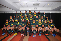 Rugby Union - 2019 Rugby Championship - New Zealand vs. South Africa, pre-match captain's runs & photocalls<br /> <br /> South African team photo, at Westpac Stadium, Wellington.<br /> <br /> COLORSPORT/ANDREW COWIE