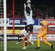 Motherwell's Darren Randolph stretches for a cross - Dundee v Motherwell, Clydesdale Bank Scottish Premier League at Dens Park.. - © David Young - 5 Foundry Place - Monifieth - DD5 4BB - Telephone 07765 252616 - email: davidyoungphoto@gmail.com - web: www.davidyoungphoto.co.uk