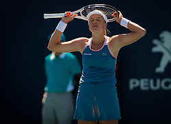 March 22, 2019 - Miami, FLORIDA, USA - Anett Kontaveit of Estonia in action during the second-round at the 2019 Miami Open WTA Premier Mandatory tennis tournament (Credit Image: © AFP7 via ZUMA Wire)