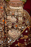 wedding dress details tradional costume in jaisalmer  in rajasthan state in india