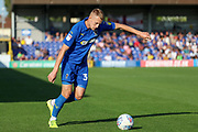 AFC Wimbledon striker Joe Pigott (39) passing the ball during the EFL Sky Bet League 1 match between AFC Wimbledon and Bristol Rovers at the Cherry Red Records Stadium, Kingston, England on 21 September 2019.