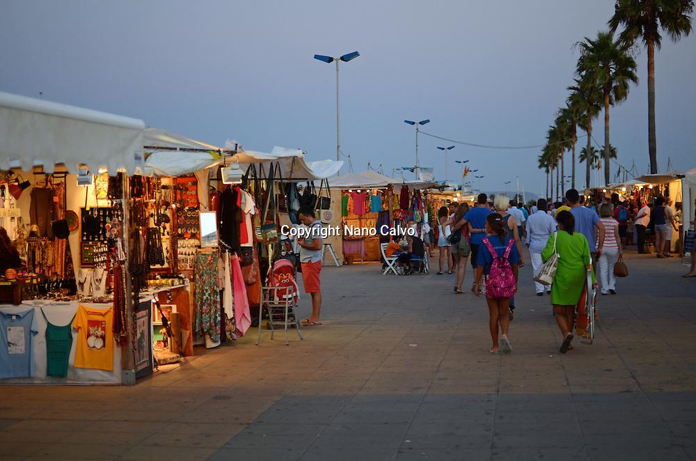 Hippy Market at Night, Conil de la Frontera