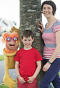 07/09/2015 repro free  Aislinn &Oacute; hEocha<br /> Executive Artistic Director, Babor&oacute; with Donnacha Carew (aged 6) with Puppet Rib&iacute;n from Saol Faoi Shr&aacute;id, F&iacute;b&iacute;n Theatre Company to announce the 19th Babor&oacute; International Arts Festival for Children which takes place in Galway from October 12 - 18. This year&rsquo;s festival offers a creative extravaganza for all ages and a journey for the heart and soul. With seven days of theatre, puppetry, dance, music, animation, exhibitions and workshops, the festival will enthrall young and old alike. http://baboro.ie<br /> Photo:Andrew Downes, xposure.<br /> <br /> ( F&iacute;b&iacute;n Theatre Company&rsquo;s show Saol Faoi Shr&aacute;id which is part of the the 2015 Babor&oacute; Festival).