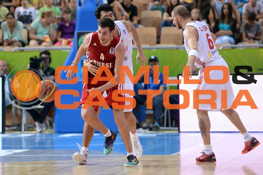 DESCRIZIONE : Capodistria Koper Slovenia Eurobasket Men 2013 Preliminary Round Turchia Russia Turkey Russia<br /> GIOCATORE : Sergey Karasev<br /> CATEGORIA : Controcampo Fallo<br /> SQUADRA : Russia Russia<br /> EVENTO : Eurobasket Men 2013<br /> GARA : Turchia Russia Turkey Russia<br /> DATA : 09/09/2013<br /> SPORT : Pallacanestro&nbsp;<br /> AUTORE : Agenzia Ciamillo-Castoria/Max.Ceretti<br /> Galleria : Eurobasket Men 2013 <br /> Fotonotizia : Capodistria Koper Slovenia Eurobasket Men 2013 Preliminary Round Turchia Russia Turkey Russia<br /> Predefinita :