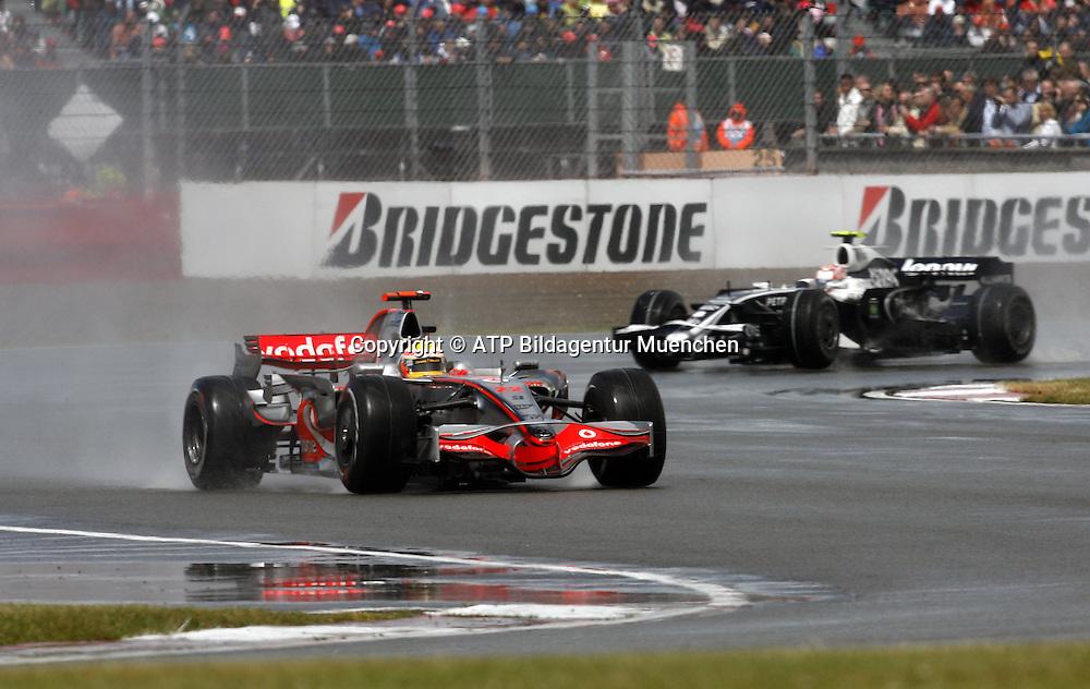 Lewis HAMILTON, Team McLaren-Mercedes. Formula 1, British GP, Silverstone, England. 6 july 2008. Photo: ATP/PHOTOSPORT