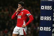 James Hook of Wales reacts after his missed pass gifts France the opening try. RBS Six nations championship 2010, Wales v France at the Millennium Stadium in Cardiff on Friday 26th Feb 2010. picture by Andrew Orchard