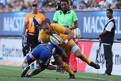 Leonardo Senatore of the Jaguares during the Super Rugby match between DHL Stormers and Jaguares held at DHL Newlands in Cape Town, South Africa on the 4th March 2017.<br /> <br /> Photo by Ron Gaunt/Villar Press