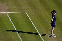 LONDON, ENGLAND - Wednesday, July 2, 2008: A ball-girl during the men's singles quarter-final match on day nine of the Wimbledon Lawn Tennis Championships at the All England Lawn Tennis and Croquet Club. (Photo by David Rawcliffe/Propaganda)