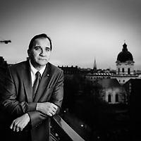 Socialdemokraternas partiledare Stefan Löfven. Fotograferat för Affärsvärlden. Photo © Daniel Roos