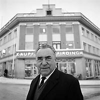 Jakob Frimannsson kaupf&eacute;lagsstj&oacute;ri KEA &aacute; Akureyri, 1970<br /> <br /> Jakob Fr&iacute;mannsson, director of the KEA cooperative store in Akureyri, 1970